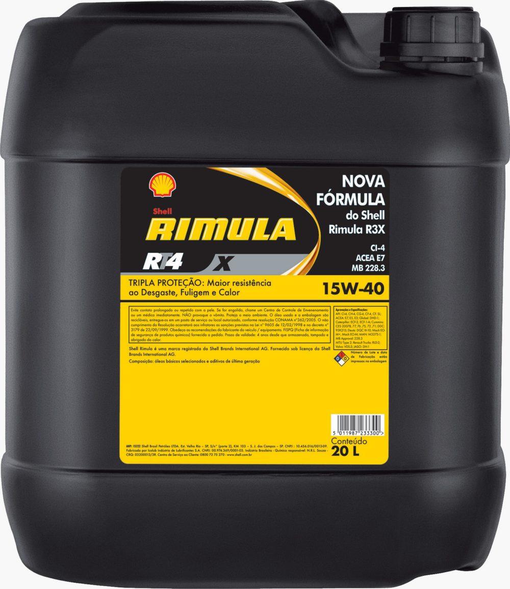 Shell Rimula RT4X 15w40 20ltr